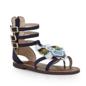 Sam Edelman Girls Gigi Giselle Frayed Sandals 5